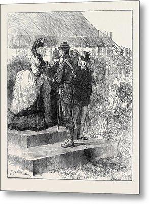 Princess Louise Presenting The Prizes At Wimbledon 1871 Metal Print