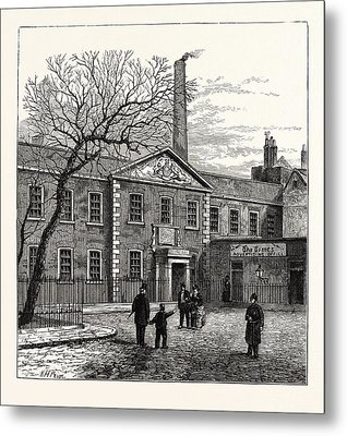 Printing House Square And The Times  Office 1870 London Metal Print by English School