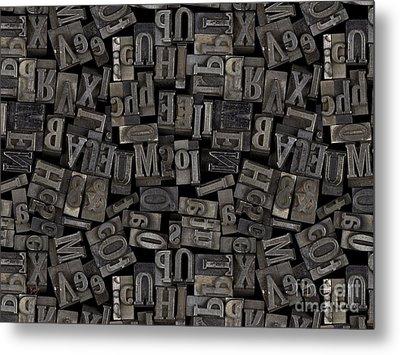 Printing Letters 2 Metal Print by Bedros Awak