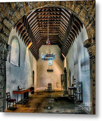 Priory Church Of St Seiriol Metal Print by Adrian Evans