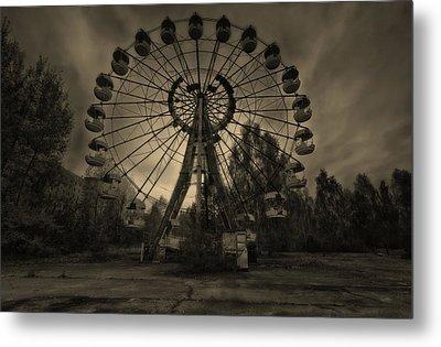 Pripyat Ferris Wheel Metal Print
