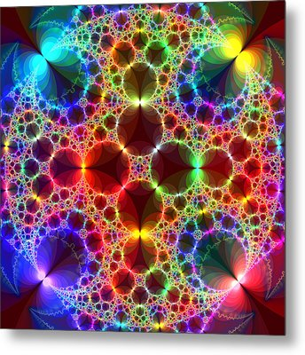 Prism Bubbles Metal Print