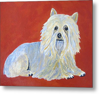 Metal Print featuring the painting Prissy by Suzanne Theis