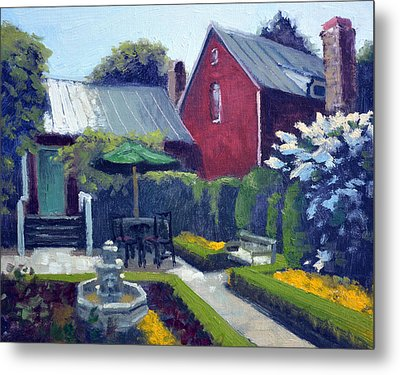 Private Courtyard Metal Print
