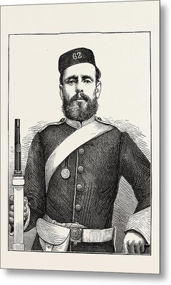 Private George Bryant, Champion Shot Of The British Army Metal Print by English School