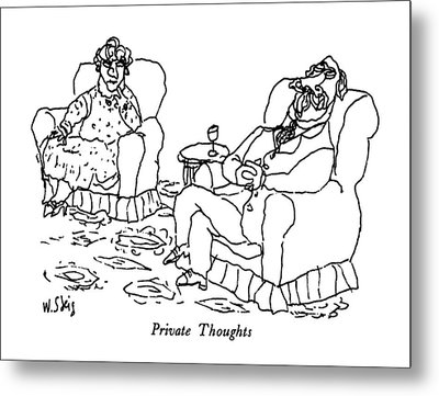 Private Thoughts Metal Print by William Steig
