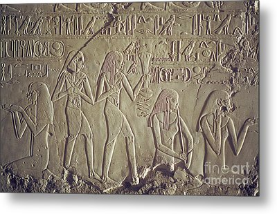 Private Tomb Of Kheruef Kheruf Cheriuf Tt 192 Asasif-stock Image-fine Art Print-valley Of The Kings Metal Print