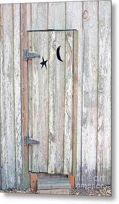 Privy Door Metal Print