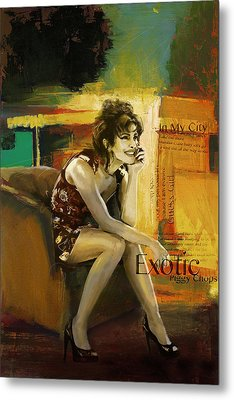 Priyanka Chopra Metal Print by Corporate Art Task Force
