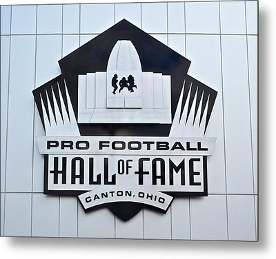 Pro Football Hall Of Fame Metal Print by Frozen in Time Fine Art Photography