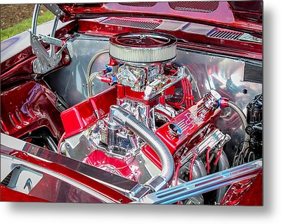 Metal Print featuring the photograph Pro Street Hot Rod Engine  by Trace Kittrell