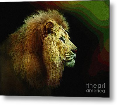 Profile Of The Lion King Metal Print by Robert Foster