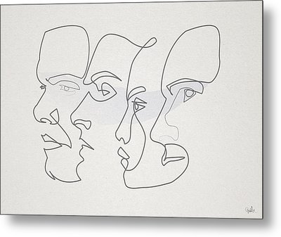 Profiles Metal Print by Quibe
