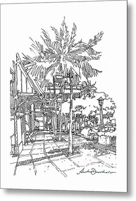 Metal Print featuring the drawing Promenade by Andrew Drozdowicz