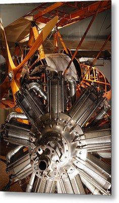 Prop Plane Engine Illuminated Metal Print