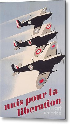 Propaganda Poster For Liberation From World War II Metal Print