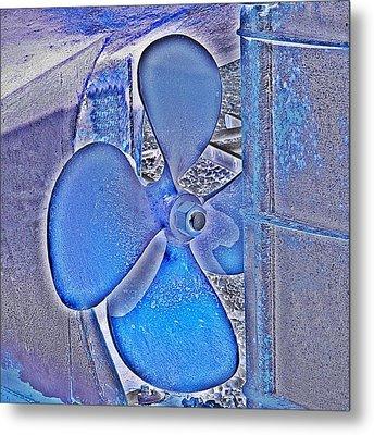 Propeller Blue Metal Print by Sharon Lisa Clarke