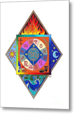 Metal Print featuring the drawing Prophecy by Mary J Winters-Meyer