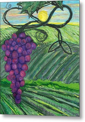 Prophetic Message Sketch 18 Vineyard Infinity Trinity Metal Print by Anne Cameron Cutri