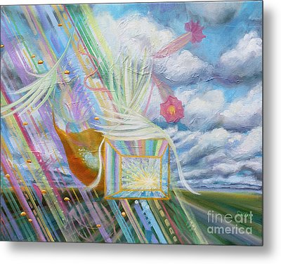 Prophetic Ms 39 Praise And The Festival Of Booths/feast Of Tabernacles Metal Print by Anne Cameron Cutri