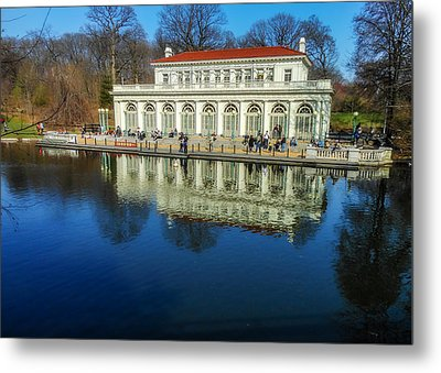 Prospect Park Boathouse Metal Print
