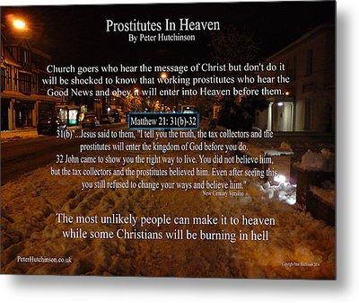 Prostitutes In Heaven Metal Print