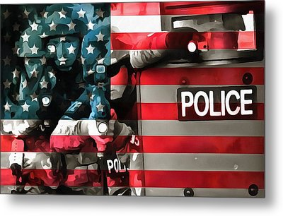 Protect And Serve Metal Print