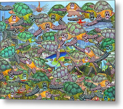 Protecting Mr. Bluefin  Metal Print by Betsy Knapp