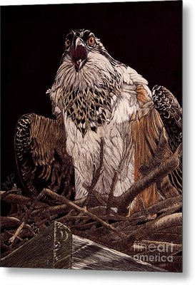 Protecting The Nest Metal Print