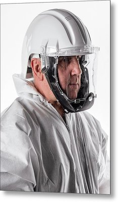 Protective Safety Clothing Metal Print