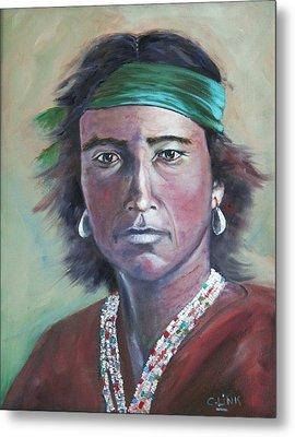 Proud Navajo Metal Print