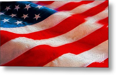 Proud To Be American Metal Print by Jon Neidert