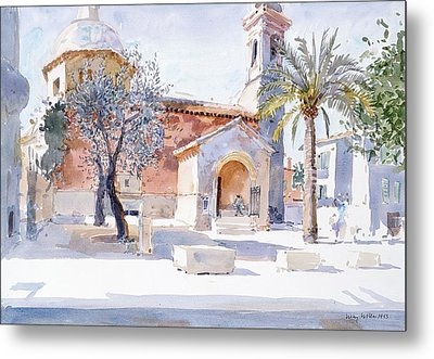 Provencal Church Metal Print by Lucy Willis