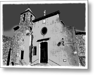 Provencal Church  Metal Print
