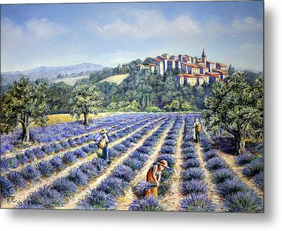 Provencal Harvest Metal Print by Rosemary Colyer