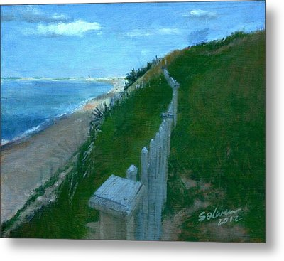 Provincetown And Cape Cod Bay From Lookout Bluff Metal Print