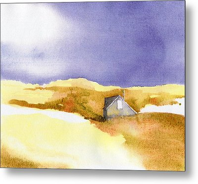 Provincetown Dune Shack Metal Print by Joseph Gallant