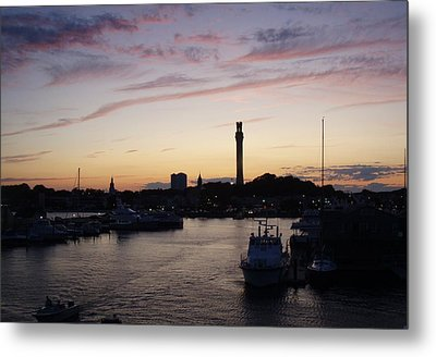 Provincetown Sunset Metal Print by Robert Nickologianis