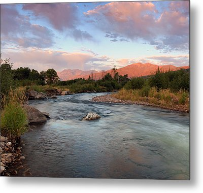 Provo River Sunrise Metal Print by Johnny Adolphson