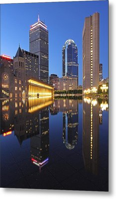 Prudential Center At Night Metal Print by Juergen Roth