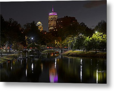 Prudential Over The Charles River Metal Print by Toby McGuire