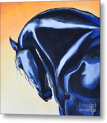 Metal Print featuring the painting Prussian Night by Suzette Kallen