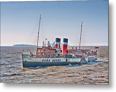 Ps Waverley Approaching Penarth Metal Print by Steve Purnell