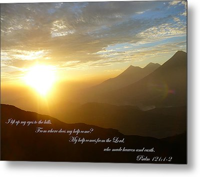 Psalm 121 1 2 C Metal Print by Nicki Bennett