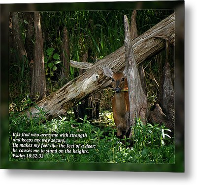 Psalm 18 32-33 Metal Print