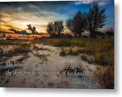 Metal Print featuring the photograph Psalm 19 by Joshua Minso
