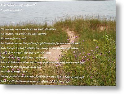 Psalm 23 Path  Metal Print