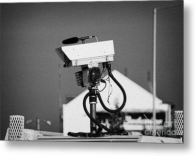 Psni Surveillance Land Rover Spy Camera On Crumlin Road At Ardoyne Shops Belfast 12th July Metal Print