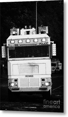Psni Water Cannon On Crumlin Road At Ardoyne Shops Belfast 12th July Metal Print