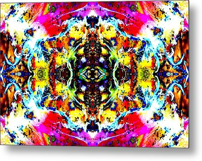 Metal Print featuring the photograph Psychedelic Abstraction by Marianne Dow